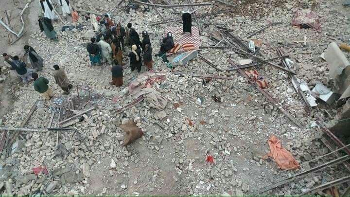 بیش از ۵۵ کشته و زخمی در انفجار افغانستان/ عکس