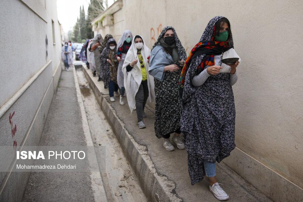 «قاشق زنی» چهارشنبه سوری در شیراز