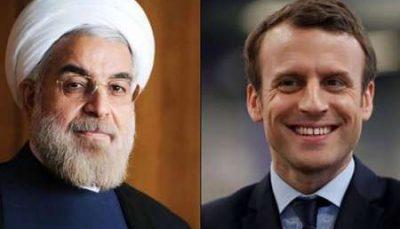 رئیس جمهور فرانسه با روحانی گفت و گو کرد