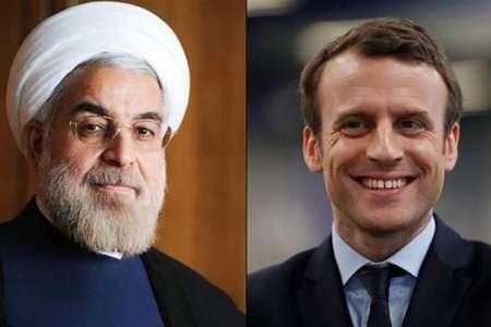 83273179 72954688 رئیس جمهور فرانسه با روحانی گفت و گو کرد