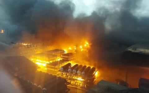 یک گاراژ در جنوب شرق تهران دچار آتش سوزی شد