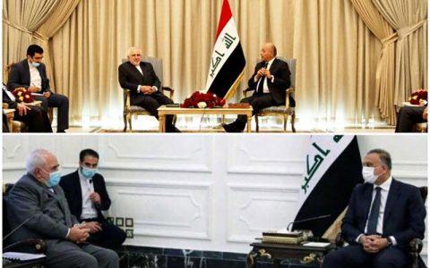 تسهیل توافقات در وین در جریان سفر ظریف به بغداد