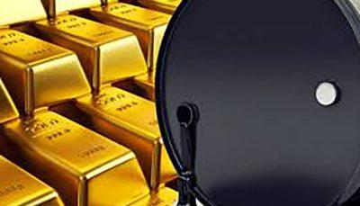 افزایش قیمت نفت و کاهش بهای طلا