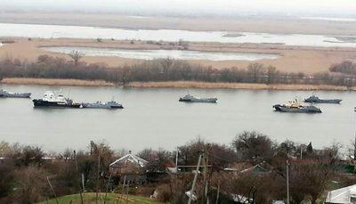 انتقال کشتیهای جنگی روس از دریای خزر به دریای سیاه