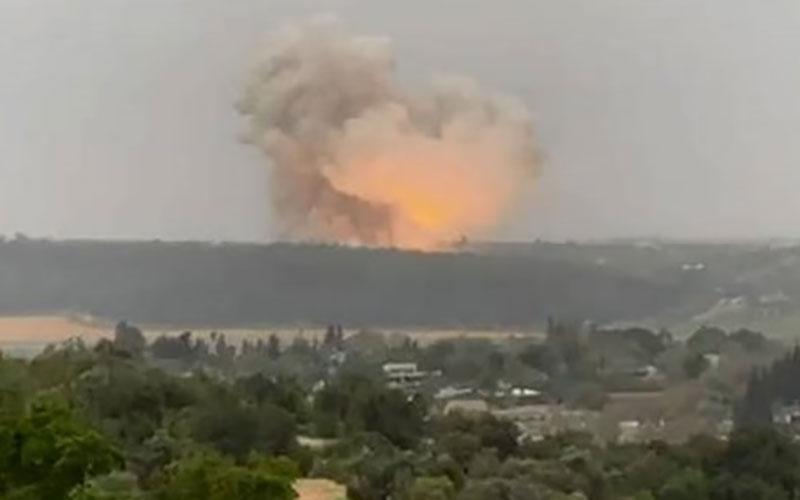 انفجار بزرگ در تاسیسات امنیتی حساس در مرکز فلسطین