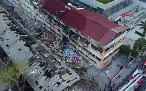 انفجار مهیب و آتش سوزی در استانبول