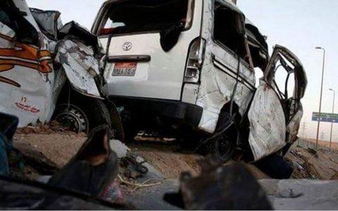 تصادف اتوبوس در مصر ۲۰ کشته بر جا گذاشت