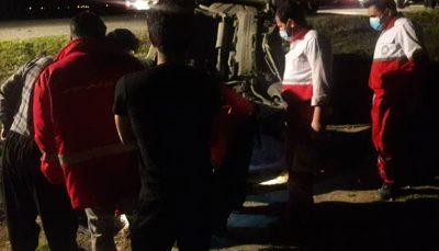 تصادف در جاده کرج - چالوس یک نفر کشته و سه مصدوم برجا گذاشت