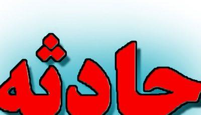 تصادف و آتشسوزی دو خودروی تاکسی در محور قزوین- زنجان