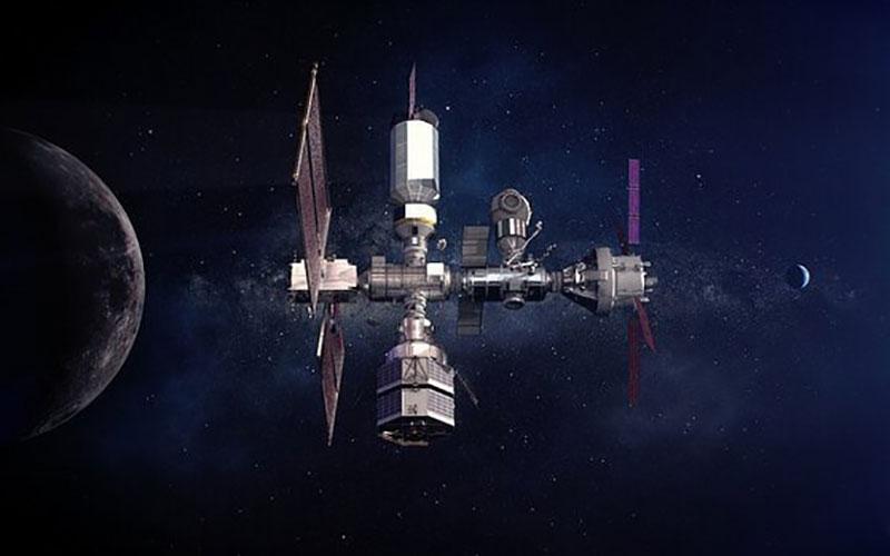 """تصاویر خیره کننده ناسا از ایستگاه فضایی """"دروازه ماه"""""""