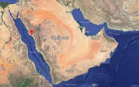 کشتی سعودی در دریای سرخ