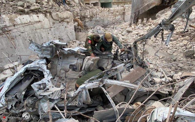 کشف کارگاه خودروهای بمب گذاری شده داعش در موصل