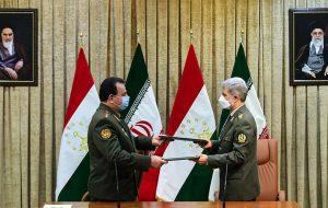 دومین دوره مذاکرات دو جانبه میان وزرای دفاع ایران و جمهوری تاجیکستان