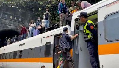 سانحه ریلی در تایوان دهها کشته بر جای گذاشت