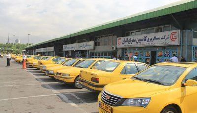 بنزین تاکسی های بین شهری