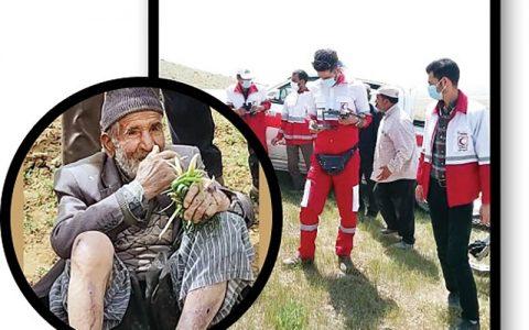 نجات مرد ۹۴ساله بعد از ۳روز در کوهستان