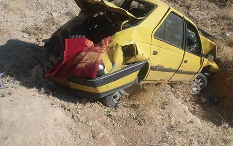 واژگونی پژو ۴۰۵ در زرند سه کشته بر جا گذاشت