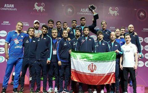 پهلوانان کشتی آزاد ایران «قهرمان آسیا» شدند