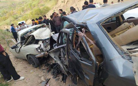 یک کشته و ۵ زخمی در تصادف خونبار محور پالنگان کامیاران