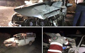 ۱۲ زخمی و ۲ فوتی در حادثه واژگونی پژو ۴۰۵ در محور یزد_رفسنجان