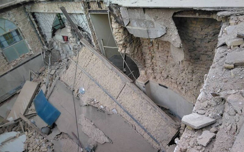 ریزش آوار ساختمان