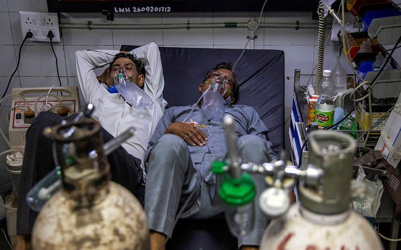 انفجار کرونا در هند؛ ظرفیت بیمارستانها تکمیل شدند
