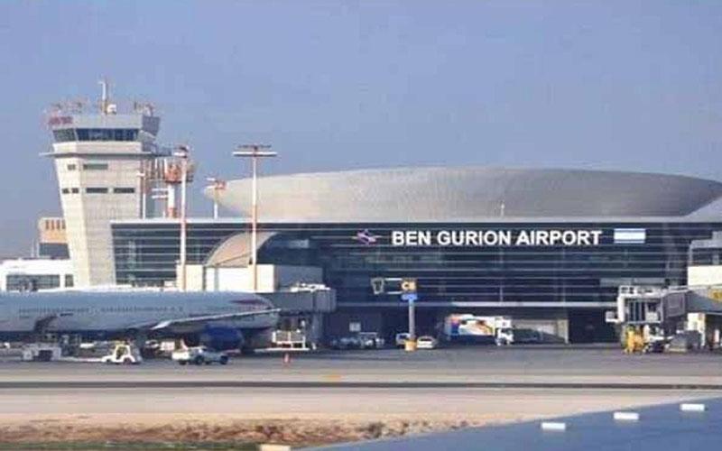 آتش سوزی گسترده در نزدیکی فرودگاه بن گوریون