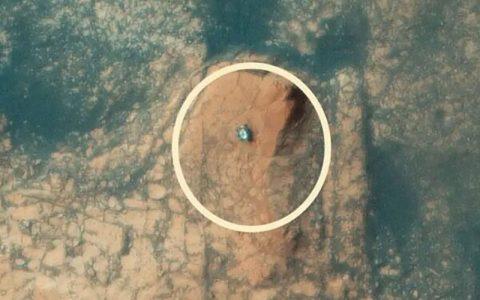 انتشار اولین عکس هوایی از کوهنوردی مریخنورد کنجکاو