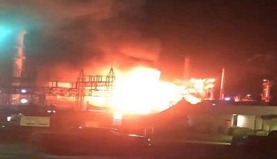 انفجار و آتش سوزی در پالایشگاه آمریکا