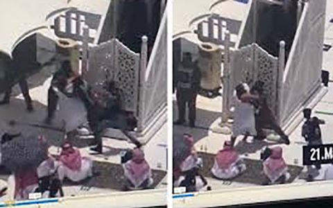 بازداشت یک فرد مهاجم در مسجد الحرام
