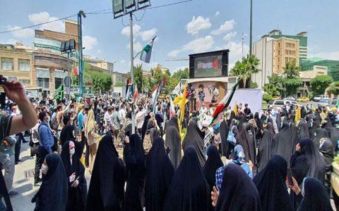 تجمع شهروندان تهرانی در دفاع از مردم فلسطین