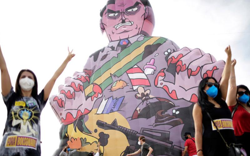 تظاهرات علیه ترامپ برزیل