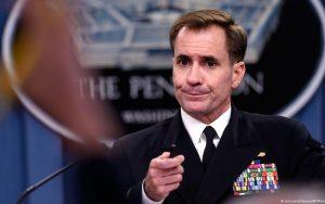 جان کربی: از فعالیتهای نیروی دریایی ایران نگران هستیم