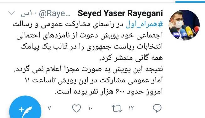 تفتیش آرای انتخاباتی مردم توسط همراه اول؛ به مجریان این نظرسنجی بگویید مردم ایران شب انتخاباتی هستند