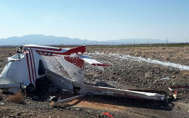 سقوط یک فروند هواپیمای فوق سبک در اراک