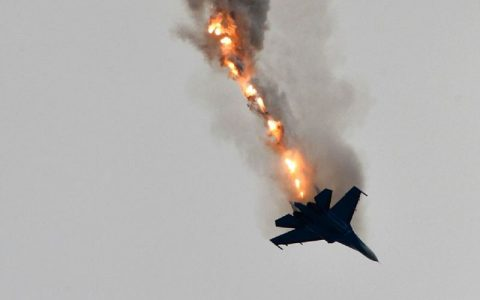 سقوط یک هواپیمای نظامی در ایالت نوادا آمریکا