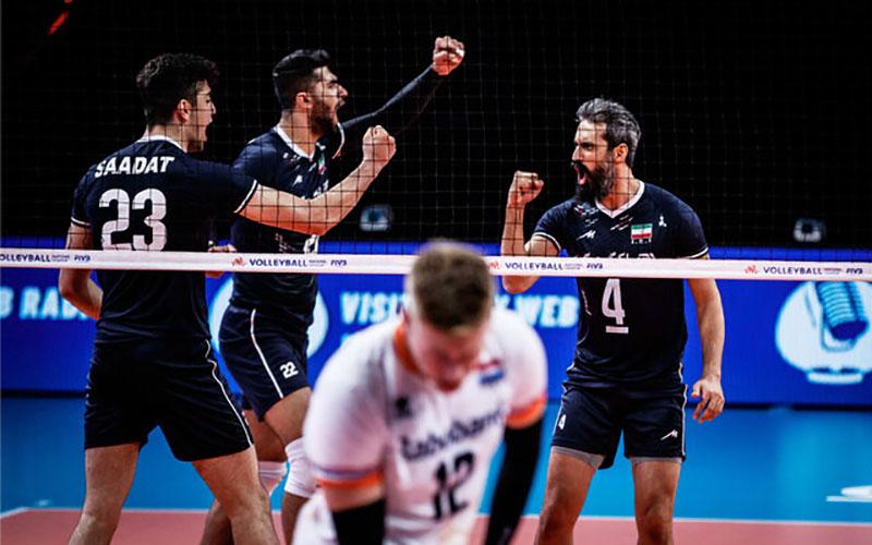 لیگ ملت های والیبال/ پیروزی ایران مقابل هلند در روز بازگشت معروف