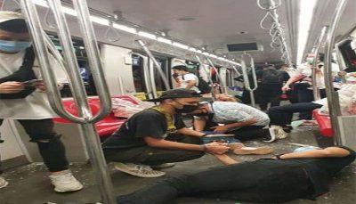 برخورد ۲ قطار در متروی مالزی