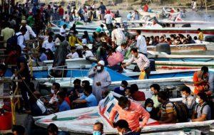 ۲۶ تن کشته در تصادف قایق با کشتی باری