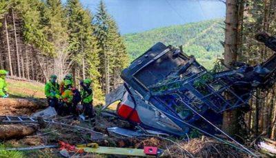 ۳ نفر در پرونده سقوط مرگبار تله کابین در ایتالیا بازداشت شدند