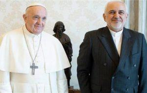 اوراسیاریویو: ظریف با پاپ فرانسیس دیدار کرد/ المانیتور: تلاش برای تحریم انتخابات در حال افزایش است/ دِ هیل: تعامل بایدن با ایران باعث خشونت در اسرائیل می شود/ اورشلیم پُست: بحرین بانک های ایرانی را متهم به پولشویی کرد