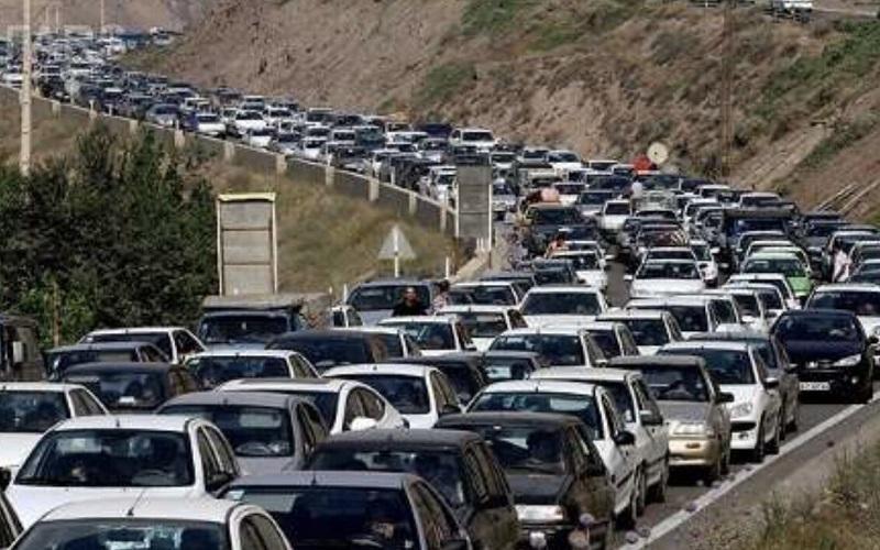 ترافیک سنگین در محورهای کندوان و فیروزکوه