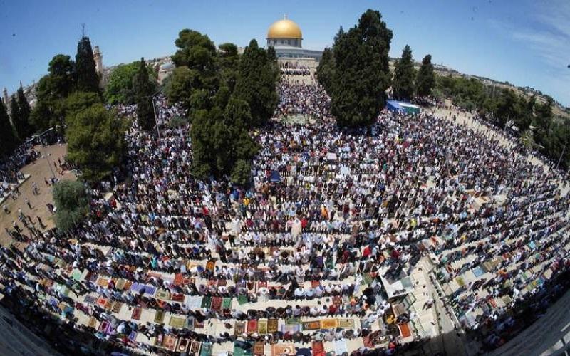 اقامه نماز ۷۰ هزار نمازگزار در مسجد الاقصی