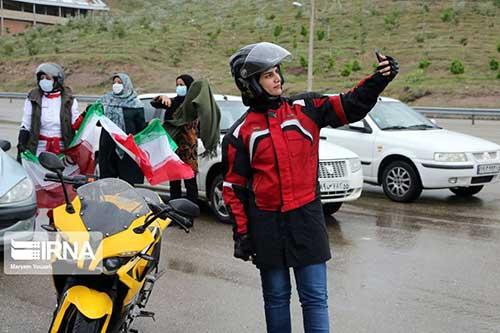 موتورسواری زنان در حاشیه مراسم روز قدس/ عکس