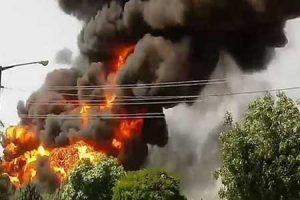 آتش سوزی در بیمارستان بقیه الله
