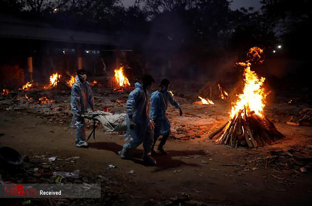 سیل قربانیان کرونا در هند