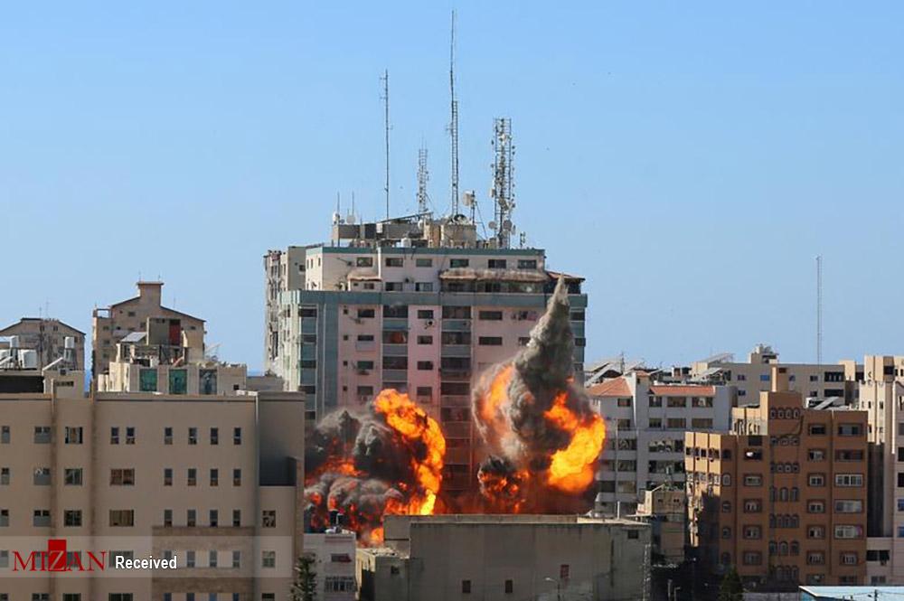 بمباران ساختمان رسانهای در غزه