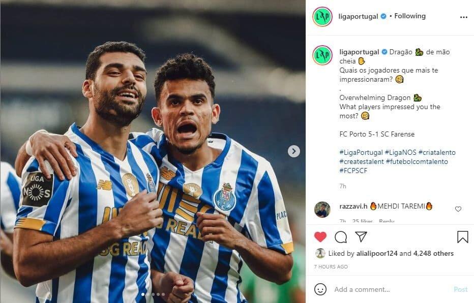 واکنش صفحه رسمی لیگ پرتغال به درخشش طارمی/عکس