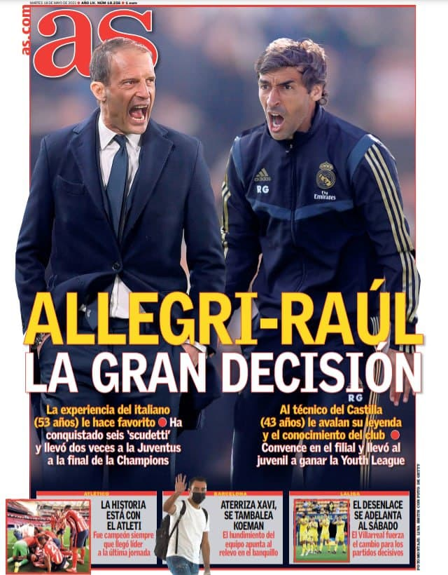 نیمکت رئال مادرید در انتظار رقابت رائول و آلگری/ عکس