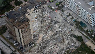 اعلام وضعیت اضطراری در پی فروریختن ساختمان مسکونی در فلوریدا